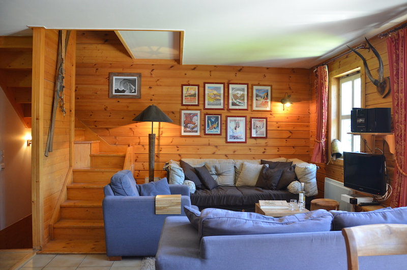 chalet 1 flaine grand massif ski living tv