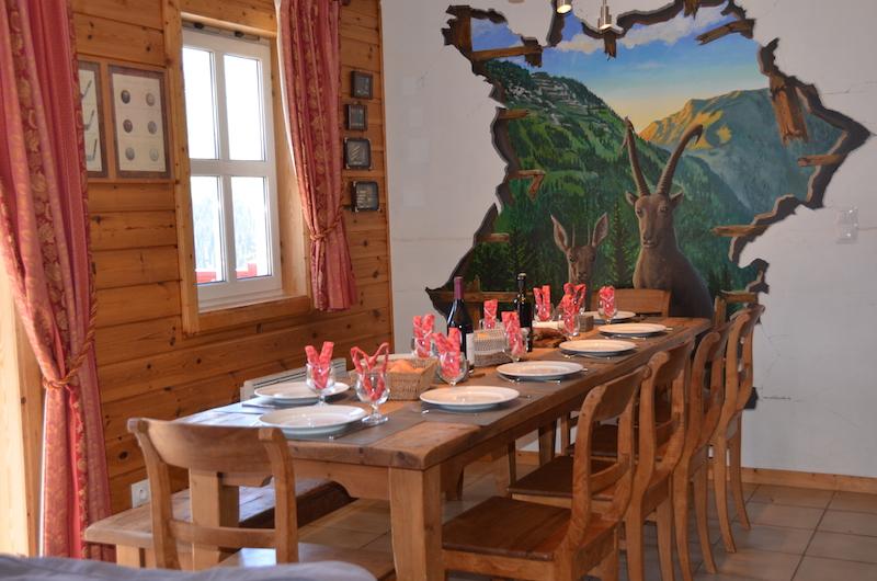 chalet 1 flaine grand massif ski diner