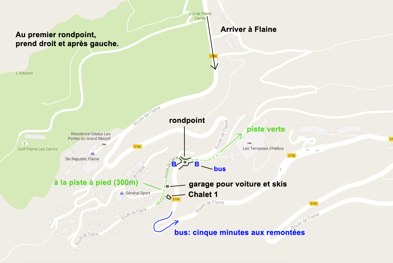 flaine plan ski chalet
